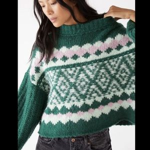 Free People Alpine Pullover OB1217257 Spearmint S